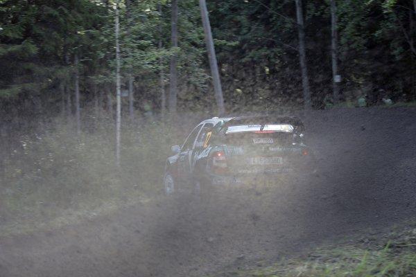 2005 FIA World Rally Champs. Round ten Rally Finland.4th - 7th August 2005.Janne Paasonen, Skoda, action.World Copyright: McKlein/LAT