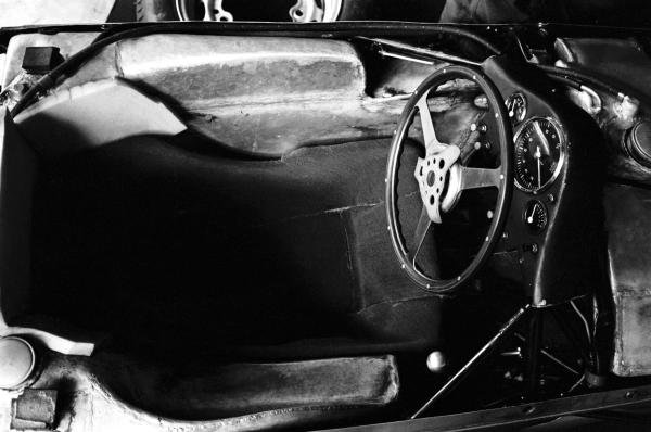 The cockpit of the Porsche 804 that gave Porsche its first ever Grand Prix victory.  French Grand Prix, Rouen-les-Essarts, 8 July 1962.