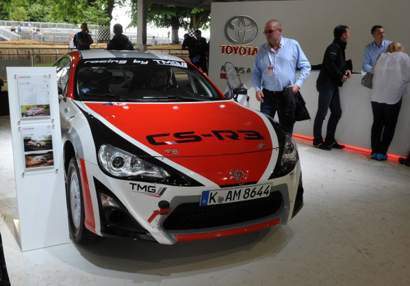 2016 Goodwood Festival of Speed Goodwood Estate, West Sussex,England 23rd - 26th June 2016 Moving Motor Show Toyota World Copyright : Jeff Bloxham/LAT Photographic Ref : Digital Image