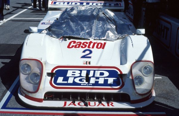 The TWR Jaguar XJR-12D of Davy Jones (USA) / Scott Pruett (USA) / David Brabham (AUS) / Scott Goodyear (CDN) in the pits.