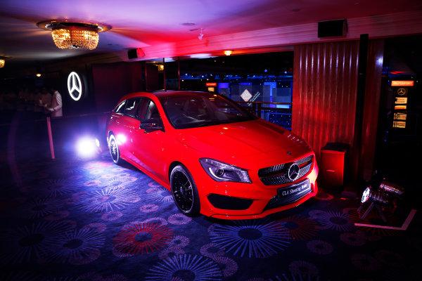 2015 Autosport Awards. Grosvenor House Hotel, Park Lane, London. Sunday 6 December 2015. Mercedes display. World Copyright: Adam Warner/LAT Photographic. ref: Digital Image _L5R8929