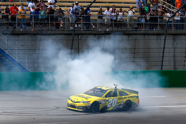 27-29 June, 2013, Sparta, Kentucky, USA Winner Matt Kenseth Burnout © 2013, Michael L. Levitt LAT Photo USA