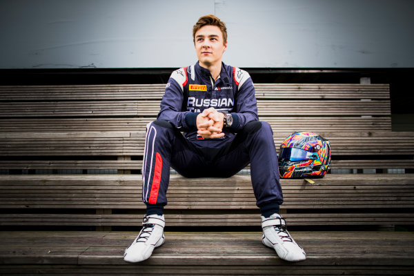 2017 FIA Formula 2 Round 6. Silverstone, Northamptonshire, UK. Thursday 13 July 2017. Artem Markelov (RUS, RUSSIAN TIME).  Photo: Zak Mauger/FIA Formula 2. ref: Digital Image _56I6300