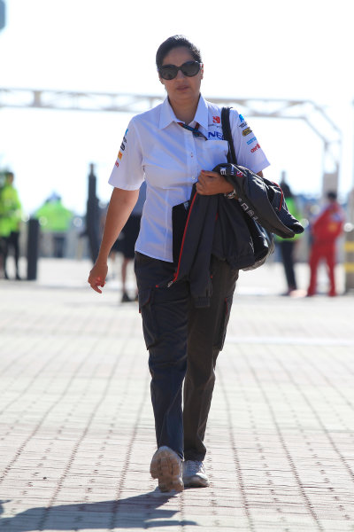 Korea International Circuit, Yeongam-Gun, South Korea. Saturday 5th October 2013. Monisha Kaltenborn, CEO and Team Principal, Sauber F1. World Copyright: Charles Coates/LAT Photographic. ref: Digital Image _X5J9365
