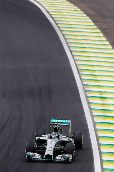 Interlagos, Sao Paulo, Brazil. Saturday 8 November 2014. Nico Rosberg, Mercedes F1 W05 Hybrid. World Copyright: Charles Coates/LAT Photographic. ref: Digital Image _N7T9632