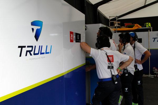 FIA Formula E Race  Trulli Team Garage Punta Del Este, Uruguay, South America. Formula E Third Race Event, 11th - 14th December 2014. Saturday 13 December 2014.  Photo: Adam Warner/LAT/FE ref: Digital Image _A8C0469