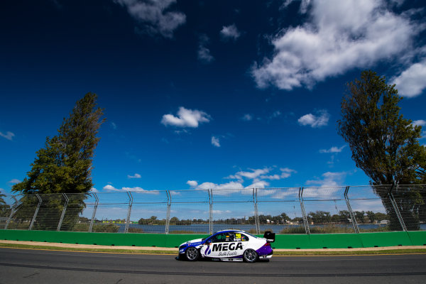 2017 Supercars Championship, Australian Grand Prix Support Race, Albert Park, Victoria, Australia. Thursday March 23rd to Sunday March 26th 2017. Jason Bright drives the #56 MEGA Racing Ford Falcon FG-X. World Copyright: Daniel Kalisz/LAT Images Ref: Digital Image 230217_VASCAUSGP_DKIMG_0575.JPG
