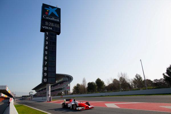 Circuit de Barcelona Catalunya, Barcelona, Spain. Tuesday 14 March 2017. Jordan King (GBR, MP Motorsport). Action.  Photo: Alastair Staley/FIA Formula 2 ref: Digital Image 580A0707