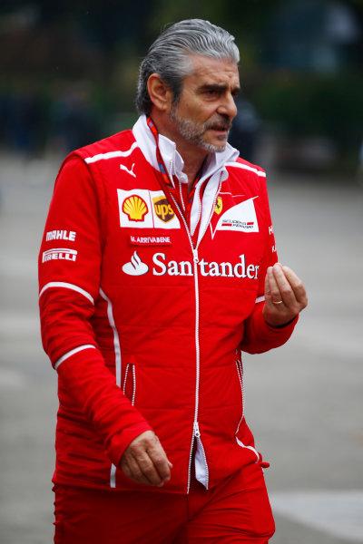 Shanghai International Circuit, Shanghai, China.  Sunday 09 April 2017. Maurizio Arrivabene, Team Principal, Ferrari.  World Copyright: Andy Hone/LAT Images ref: Digital Image _ONZ5545