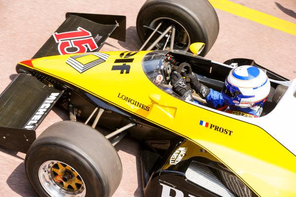 Monte Carlo, Monaco. Friday 26 May 2017. Alain Prost, Renault RE40. World Copyright: Charles Coates/LAT Images ref: Digital Image DJ5R7555