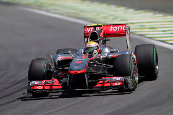 Interlagos, Sao Paulo, Brazil.7th November 2010.Lewis Hamilton, McLaren MP4-25 Mercedes, 4th position. Action. World Copyright: Charles CoatesLAT Photographicref: Digital Image DX5J5930