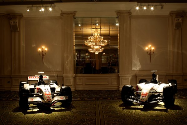 2006 Autosport AwardsGrosvenor House Hotel, London. 3rd December 2006.Honda RA106 and Bonneville 400 Special cars in the hotel.World Copyright: Peter Spinney/LAT Photographicref: Digital Image RK4O2523