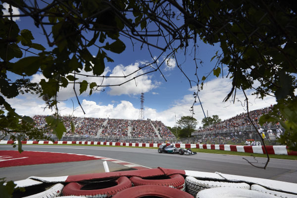 Circuit Gilles Villeneuve, Montreal, Canada. Friday 6 June 2014. Nico Rosberg, Mercedes F1 W05 Hybrid. World Copyright: Steve Etherington/LAT Photographic. ref: Digital Image SNE15222 copy
