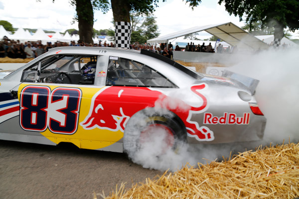 2014 Goodwood Festival of Speed  Goodwood Estate, West Sussex, England. 26th - 29th June 2014.  Sunday 29 June 2014. Patrick Friesacher, Red Bull Toyota Camry NASCAR.  World Copyright: Adam Warner/LAT Photographic. ref: Digital Image _L5R7602