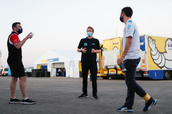 Oliver Rowland (GBR), Nissan e.Dams and Oliver Turvey (GBR), NIO 333, Alexander Sims (GBR) BMW I Andretti Motorsports