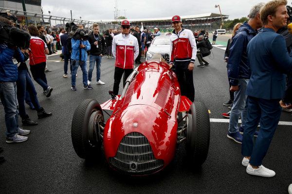 Kimi Raikkonen, Alfa Romeo Racing and Antonio Giovinazzi, Alfa Romeo Racing