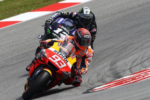 Marc Marquez, Repsol Honda Team, Maverick Vinales, Yamaha Factory Racing.