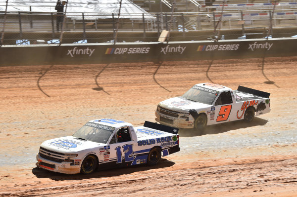 #12: Tate Fogleman, Young's Motorsports, Chevrolet Silverado Solid Rock Carriers