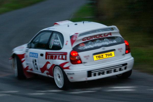 2002 British Rally Championship.Manx International Rally. Douglas, Isle of Man.1-3 August 2002.Mark Higgins/Craig Thorley (Toyota Corolla) 1st position.Ref-02 MIR 22.World Copyright - Malcolm Griffiths/LAT Photographic