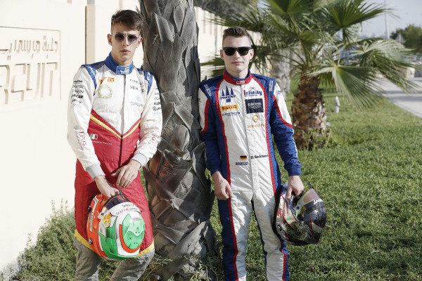 Leonardo Pulcini (ITA, Campos Racing) and David Beckmann (DEU, Jenzer Motorsport)
