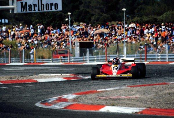 1978 French Grand Prix.Paul Ricard, Le Catellet, France.30/6-2/7 1978.Gilles Villeneuve (Ferrari 312T3) 12th position.World Copyright - LAT Photographic