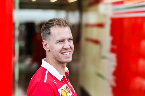 Circuit of the Americas, Austin, Texas, United States of America. Thursday 19 October 2017. Sebastian Vettel, Ferrari. World Copyright: Charles Coates/LAT Images  ref: Digital Image AN7T1264