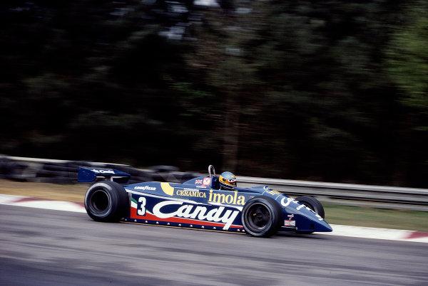 1982 Belgian Grand Prix.Zolder, Belgium.7-9 May 1982.Michele Alboreto (Tyrrell 011 Ford).Ref-82 BEL 61.World Copyright - LAT Photographic