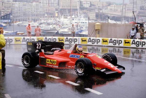 1984 Monaco Grand Prix.Monte Carlo, Monaco.31/5-3/6 1984.Michele Alboreto (Ferrari 126C4) 6th position.Ref-84 MON 61.World Copyright - LAT Photographic