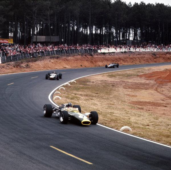 Bugatti Circuit, Le Mans, France.30/6-2/7 1967.Graham Hill (Lotus 49 Ford).Ref-3/3026.World Copyright - LAT Photographic