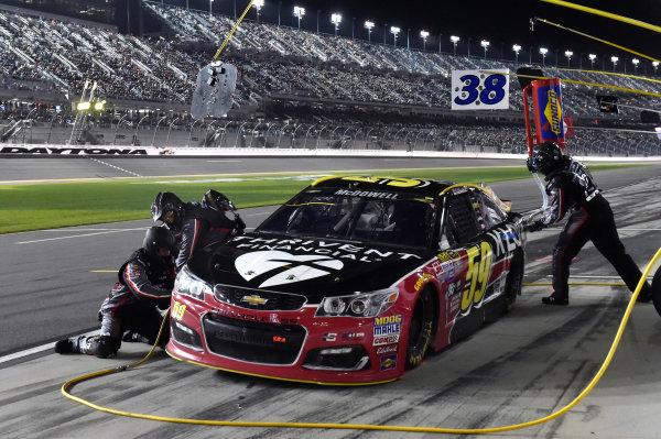 18 February, 2016, Daytona Beach, Florida USA  Michael McDowell, Leavine Family Racing pit stop ? 2016, Nigel Kinrade LAT Photo USA