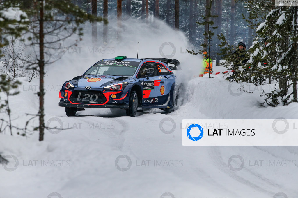 2018 FIA World Rally Championship, Round 02, Rally Sweden 2018, February 15-18, 2018. Hayden Paddon, Hyundai, Action Worldwide Copyright: McKlein/LAT