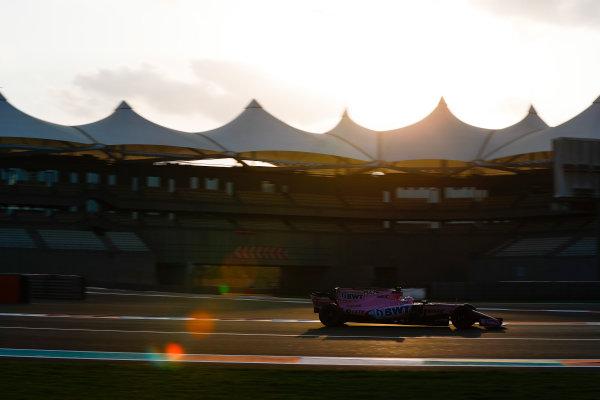 Yas Marina Circuit, Abu Dhabi, United Arab Emirates. Tuesday 28 November 2017. Nikita Mazepin, Force India VJM10 Mercedes.  World Copyright: Zak Mauger/LAT Images  ref: Digital Image _O3I0498