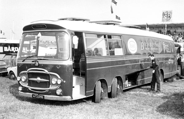 The Brabham motor home. 