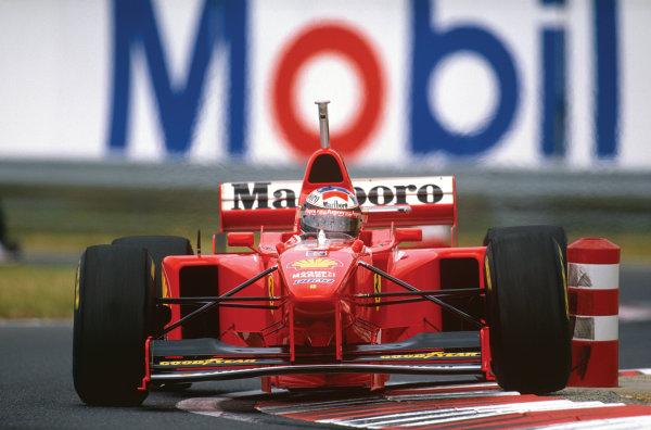 Hungaroring, Hungary. 8-10 August 1997. Michael Schumacher (Ferrari F310B) 4th position, action.  World Copyright: LAT Photographic. Ref:  97 HUN 27