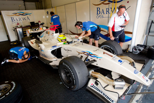 Jerez, Spain. Thursday 8th October. Luiz Razia (BRA, Barwa Addax Team). World Copyright: Alastair Staley/ GP2 Series Media Service.Ref: _P9O5760 jpg