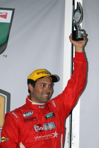 10-11 August, 2012, Watkins Glen, New York USAAlex Popow raises his Trueman Award in victory lane.(c)2012, R D. EthanLAT Photo USA