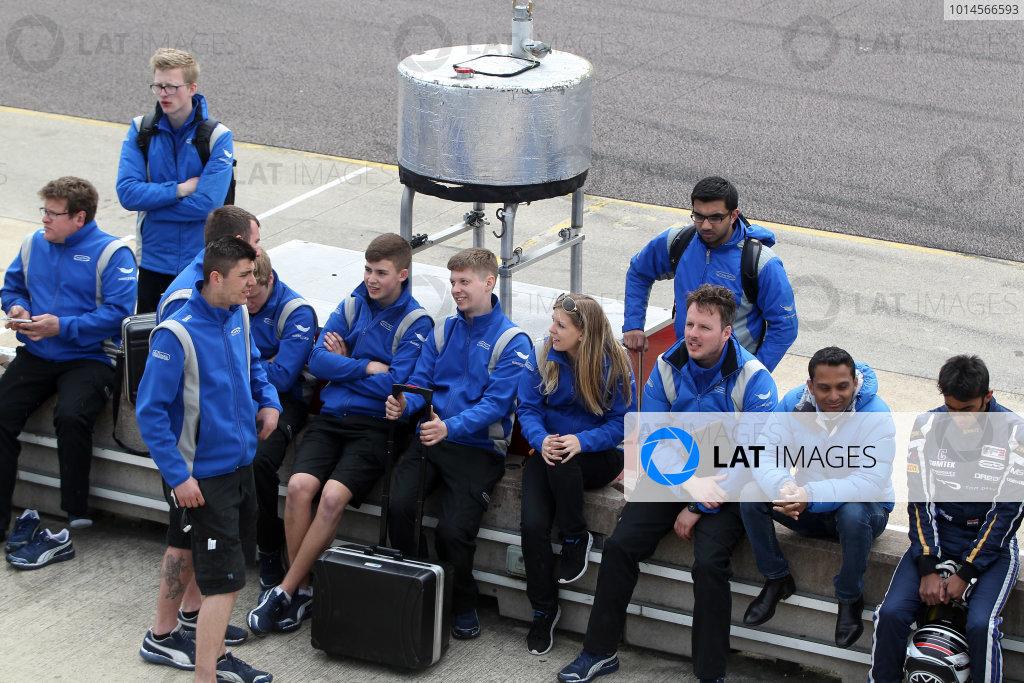 2016 BRDC British Formula 3 Championship, Rockingham, Northamptonshire.  30th April - 1st May 2016. Carlin. World Copyright: Ebrey / LAT Photographic.