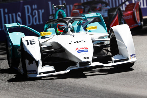 Oliver Turvey (GBR), NIO Formula E Team, NIO Sport 004, with a damaged front wing