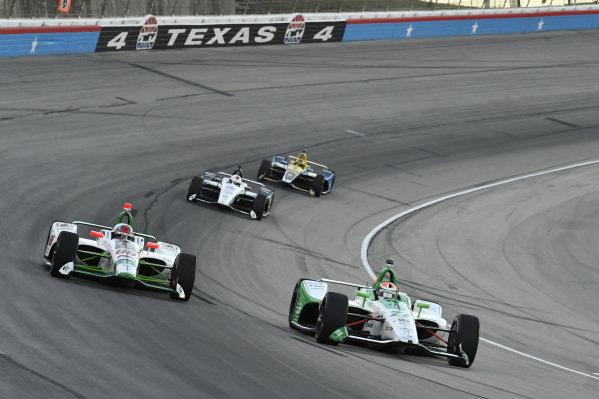 Alexander Rossi, Andretti Autosport Honda, Colton Herta, Harding Steinbrenner Racing Honda