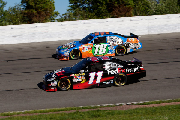 4-6 June, 2010, Long Pond, Pennsylvania USADenny Hamlin and Kyle Busch raced each other much of the race©2010, Dan Streck, USALAT Photographic