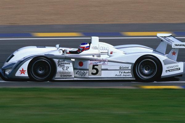 2002 Le Mans 24hr, La Sarthe, France, 15 -16 June 2002. The Team Goh Audi of Ara, Dalmas and Katoh. 7th place finish on 358 laps. World Copyright: LAT Photographic Ref: 02LM36.