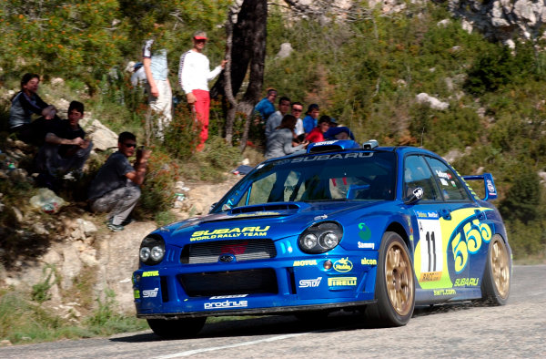 2002 World Rally ChampionshipRally Catalunya, 21st-24th March 2002.Petter Solberg on Stage 5.Photo: Ralph Hardwick/LAT