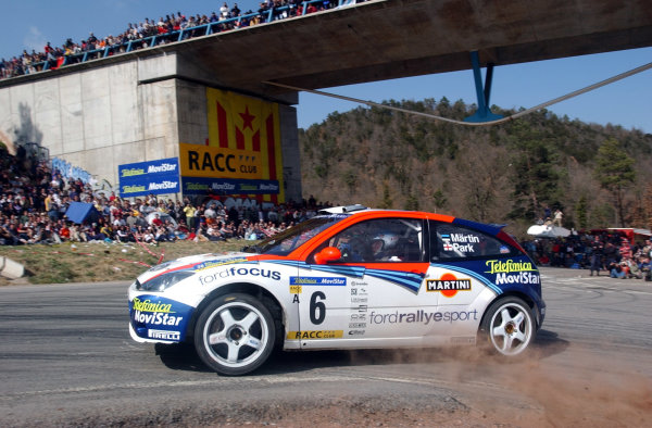 2002 World Rally ChampionshipRally Catalunya, 21st-24th March 2002.Markko Martin on the final stage. He posted an equal fastest time on the previous stage. Photo: Ralph Hardwick/LAT