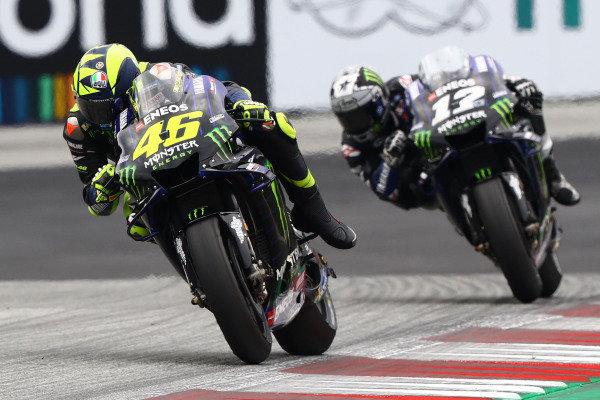 Valentino Rossi, Yamaha Factory Racing, Maverick Vinales, Yamaha Factory Racing, Alex Rins, Team Suzuki MotoGP