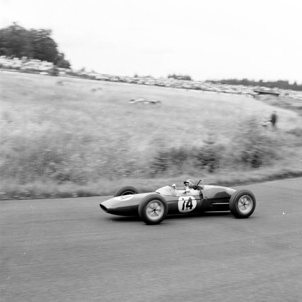 1961 German Grand Prix, Nurburgring, Germany.Jim Clark (Lotus 21-Climax), 4th position.Ref-9848.World - LAT Photographic
