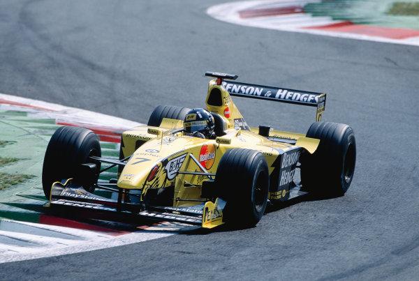 1999 Italian Grand Prix.Monza, Italy. 10-12 September 1999.Damon Hill (Jordan 199 Mugen Honda) 10th position.Ref-99 ITA 91.World Copyright - Gavin Lawrence/LAT Photographic