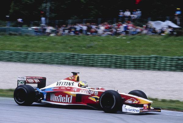 1999 Austrian Grand Prix.A1-Ring, Zeltweg, Austria. 23-25 July 1999.Ralf Schumacher (Williams FW21 Supertec).Ref-99 AUT 85.World Copyright - Gavin Lawrence/LAT Photographic