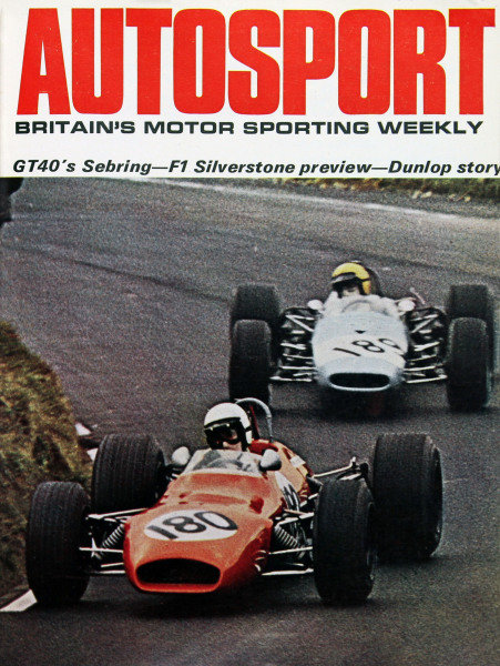Cover of Autosport magazine, 28th March 1969
