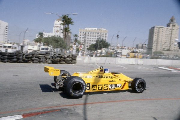 1980 United States Grand Prix West.Long Beach, California, USA. 28-30 March 1980.Jan Lammers (ATS D4-Ford Cosworth), retired.World Copyright: LAT PhotographicRef: 35mm transparency 80LB25