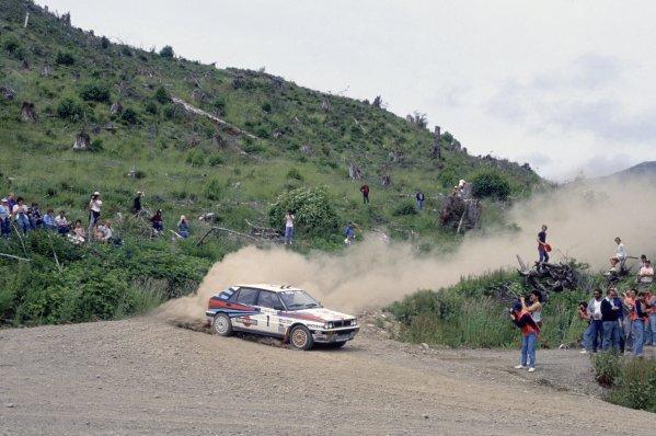 1988 World Rally Championship.Olympus Rally, United States (USA). 23-26 June 1988.Miki Biasion/Tiziano Siviero (Lancia Delta Integrale), 1st position.World Copyright: LAT PhotographicRef: 35mm transparency 88RALLY07